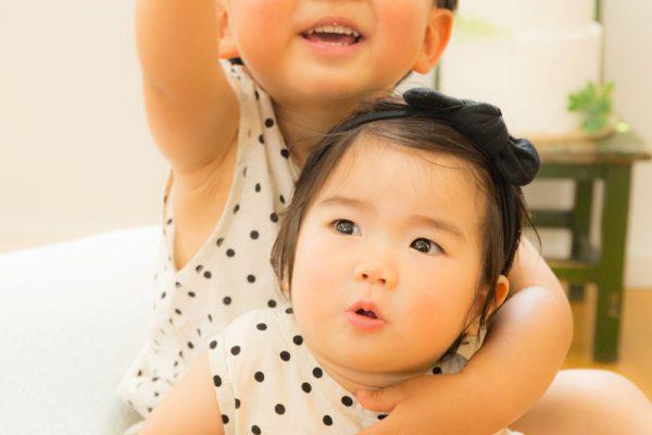 1歳と3歳のバースディフォト